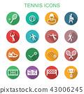 tennis long shadow icons 43006245