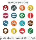 terrorism long shadow icons 43006246
