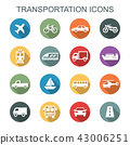 transportation long shadow icons 43006251