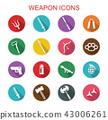 weapon long shadow icons 43006261