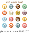 wild animal long shadow icons 43006267