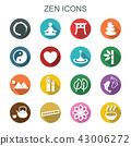 zen long shadow icons 43006272