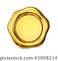 seal, wax, gold 43008214