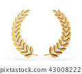 laurel, wreath, gold 43008222
