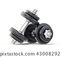dumbbell dumbbells black 43008292