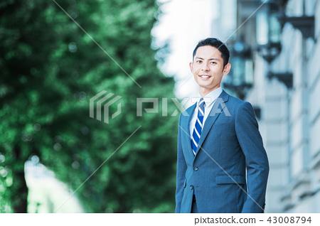 비즈니스 야외 젊은 남성 43008794