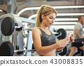 gym, smartphone, fitness 43008835