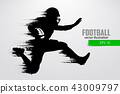 Silhouette of a football player. Vector illustration 43009797
