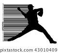 thrower, vector, baseball 43010409