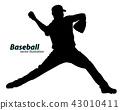thrower, vector, baseball 43010411