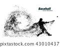 vector, baseball, player 43010437