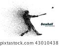 vector, baseball, player 43010438