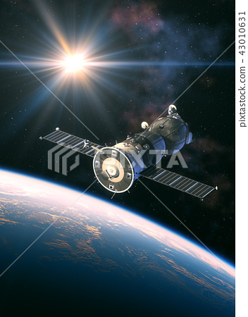 Russian Spacecraft In The Rays Of Light 43010631