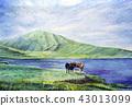 การท่องเที่ยว Kusousen Aso Volcano Watercolor Kyushu 43013099