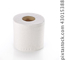 toilet paper isolated on white background 43015388