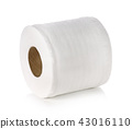 toilet paper isolated on white background 43016110
