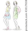 ファッション 女性 2人 43017638