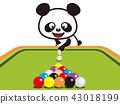熊貓 台球 桌球 43018199