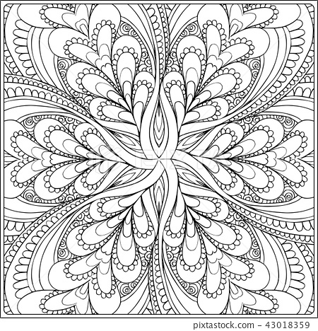 Outline hand drawing coloring page. 43018359