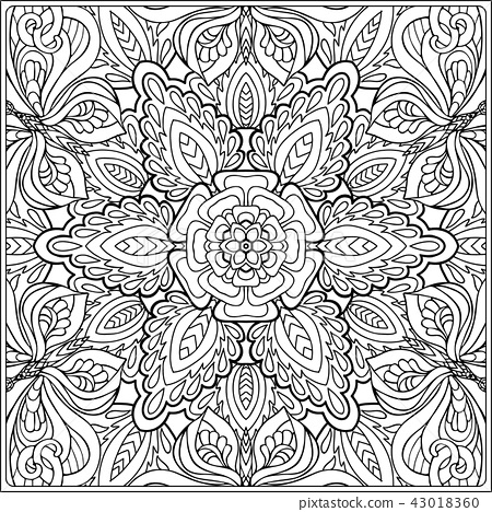 Outline hand drawing coloring page. 43018360