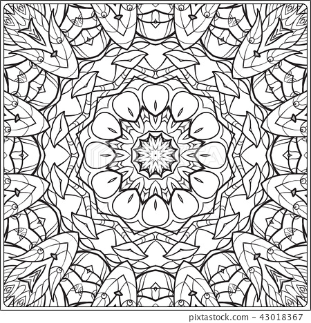 Outline hand drawing coloring page. 43018367