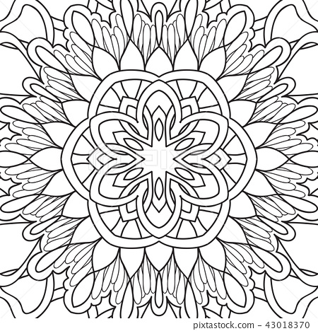 Outline hand drawing coloring page. 43018370