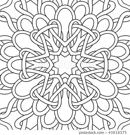 Outline hand drawing coloring page. 43018375