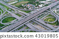 Aerial view highway road intersection. 43019805