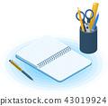 notebook notepad pen 43019924