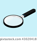 isometric magnifying vector 43020418