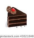 isometric chocolate cake vector 43021048