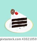 케이크, 벡터, 음식 43021050