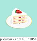 草莓 蛋糕 甜点 43021056