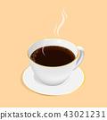 isometric espresso coffee cup vector 43021231