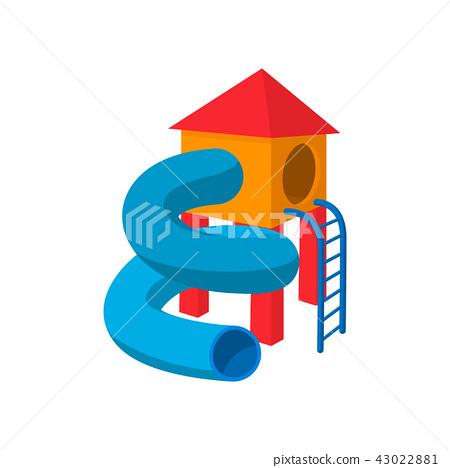 Children tube slide cartoon icon 43022881