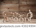 wooden dolls with wood text 43024994