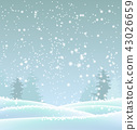 abstract blue winter background, illustration 43026659