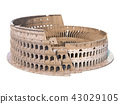 Colosseum, Coliseum isolated on white 43029105
