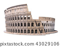 Colosseum, Coliseum isolated on white 43029106