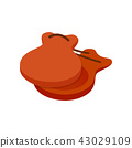 Spanish castanets icon, isometric 3d style 43029109