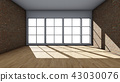 Interior background, 3D rendering 43030076