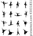 ballerina, silhouette, dancer 43031831