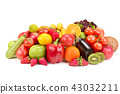 fruits and vegetable isolated on white background. 43032211
