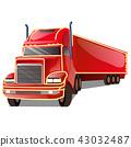car, vector, trailer 43032487