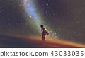 Alone under the starry sky 43033035