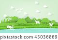 paper art vector of beautiful wildlife nature 43036869