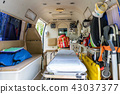 Inside of an ambulance for the hospital 43037377