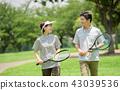 ภาพกีฬาเทนนิสคู่กลาง 43039536
