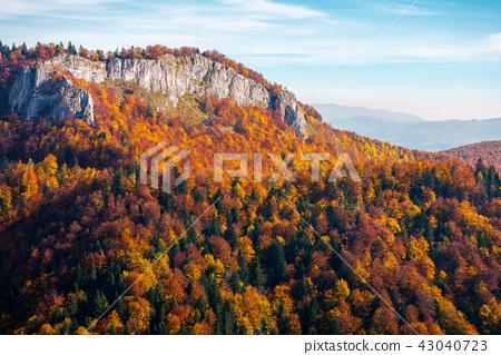 rocky crag in evening light 43040723
