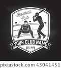Baseball or softball club badge. Vector illustration. Concept for shirt or logo, print, stamp or tee 43041451